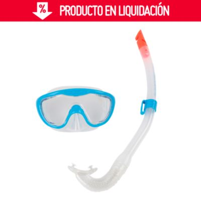 Set de buceo Junior Snokel azul