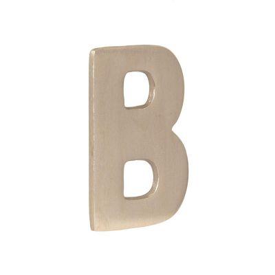 Letra níquel satinado b