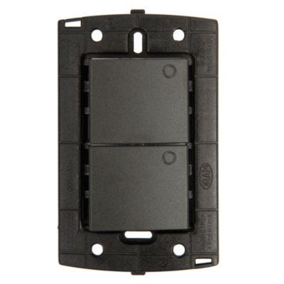 Interruptor Doble S-PQ Gris
