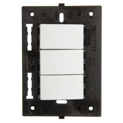Interruptor Triple Minimal Blanco
