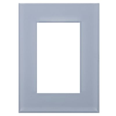 Placa Minimal Celeste Kristal