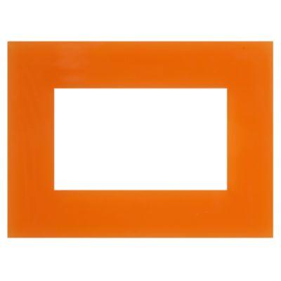 Placa Minimal Naranja kristal