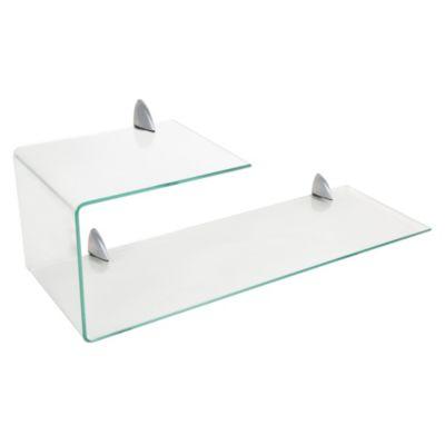 Repisa de vidrio doblada 75x26cm
