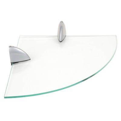 Repisa de vidrio redonda 30x30cm