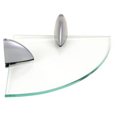 Repisa de vidrio redonda 20x20cm