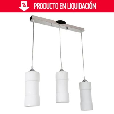 Lámpara colgante Almeria 3 luces