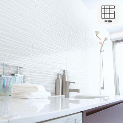 Cerámica Qatar Blanco Con Relieve 34x60cm para pared