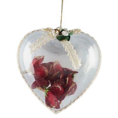 Adorno Corazón con Flor 10cm