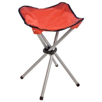 Banquito plegable rojo para camping