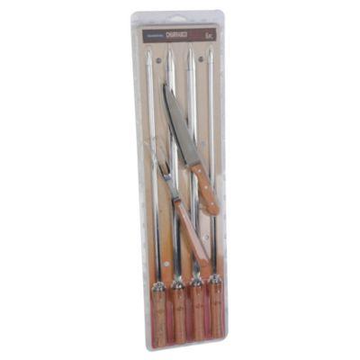 Set 6 utensilios para parrilla