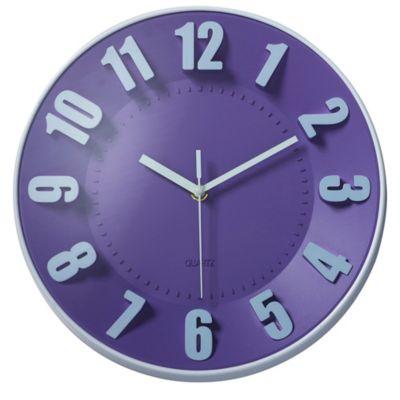 Reloj de pared morado 30cm