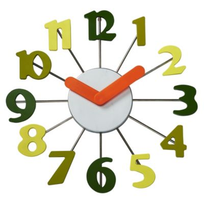 Reloj de pared colores 37cm