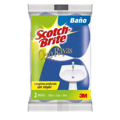 Esponja Cero rayas baños 2en1 laminada x 2 und