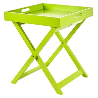 Mesa Plegable de Madera Verde