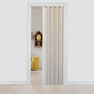 Puerta Plegable Saturno PVC 90 x 200 Crema