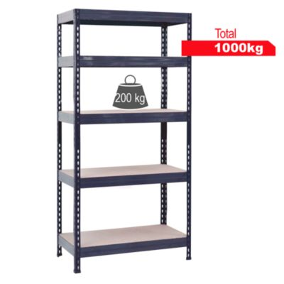 Estante de metal/madera 40x90x176cm