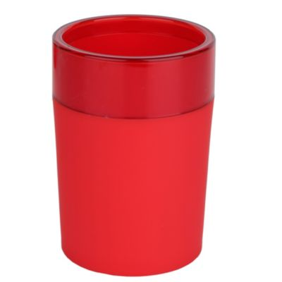 Vaso plástico Rubber rojo