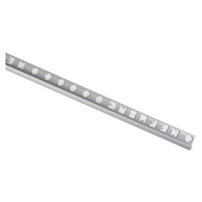 Perfil 9.5mm x 2.4m Aluminio