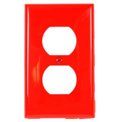 Placa Doble de Nylon Rojo