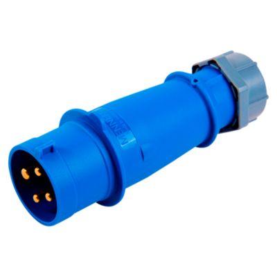 Enchufe 32A 3P/T 250V 9H Azul
