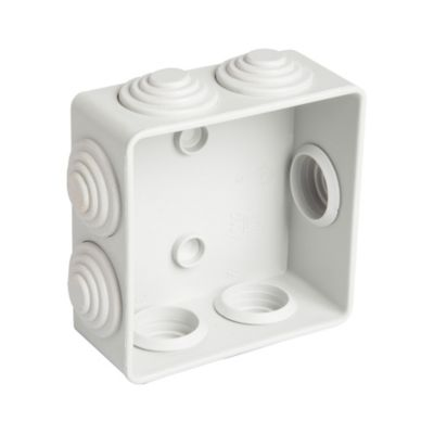 Caja Estanca de Superficie con Tapa a Presión y Laterales Lisos