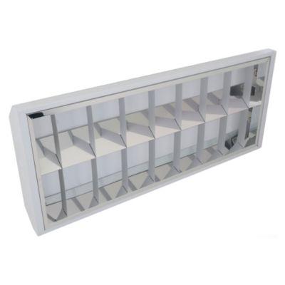 Artefacto Adosable Aluminio BF 2 x 18 W