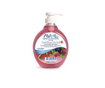 Jabón Líquido Antibacterial Frutos Rojos 400ml