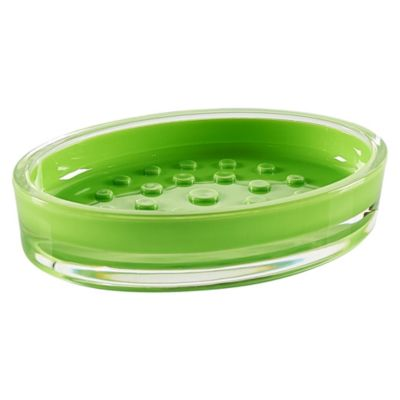 Jabonera Plato de Plástico Verde Limón