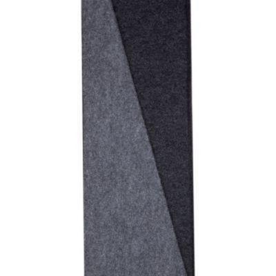 Alfombra de pared a pared gris medio 2m