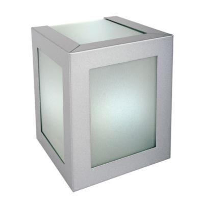 Aplique Exterior Acero Mediano Luz