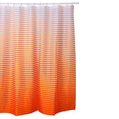 Cortina a Rayas 180x180cm Naranja