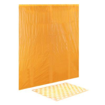 Cortina de Baño Naranja 180x180cm