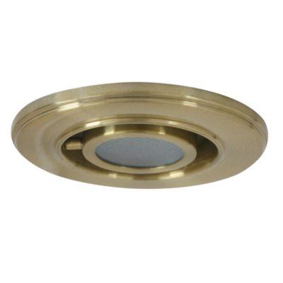 Spot para alero con vidrio bronce