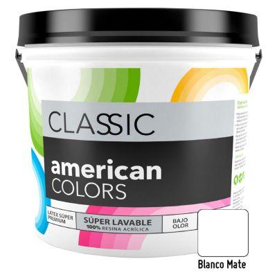 Pintura American Colors Mate Nuevo Blanco 1L