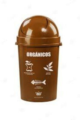 Papelera 80 Cosmos para reciclaje Orgánico 54.4 L Marrón