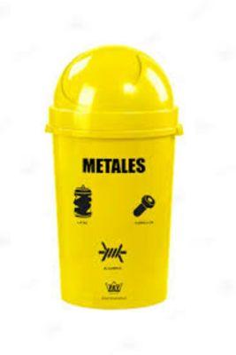 Papelera 80 Cosmos para reciclaje de Metales 54.4 L Amarillo