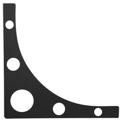 Soporte para repisa negra 20cm Mondrian