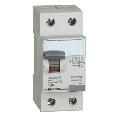 Interruptor Diferencial 2x40A Bticino