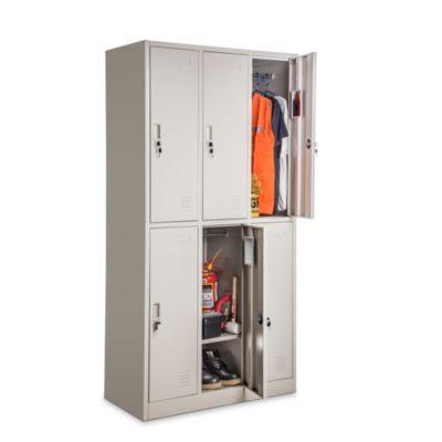Locker 6 casilleros de metal