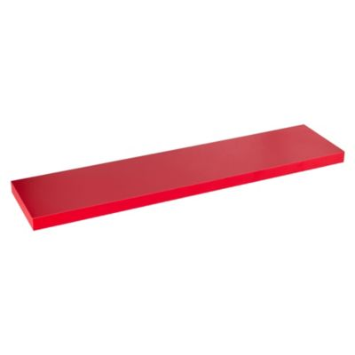 Repisa Flotante 100 x 23.5 x 3.8 cm Rojo
