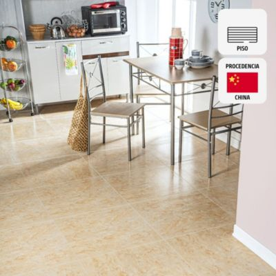 Gres Porcelánico Tharsis Beige Marmolizado 60x60 cm para piso