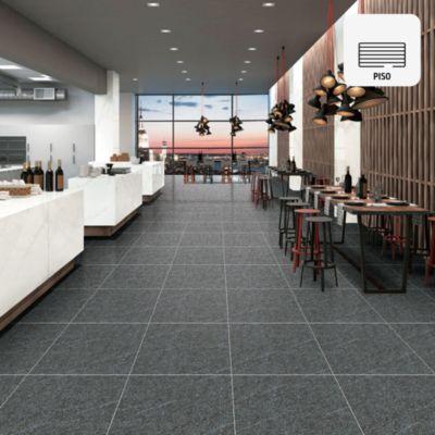 Gres Porcelánico Gris Pimienta Rústico 60x60 cm para piso