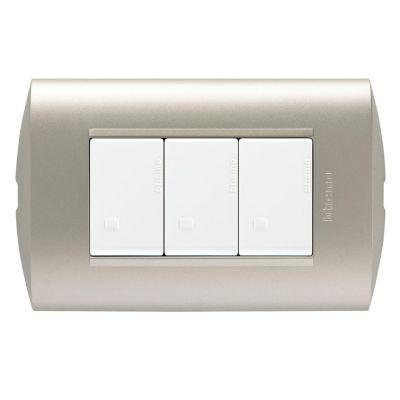 Interruptor Triple Modus Style Perla