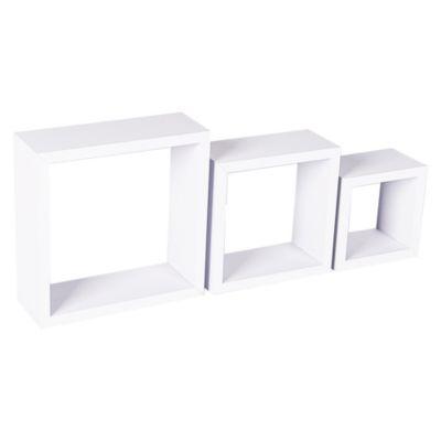 Repisa de Pared x 3 Cubos Blanco
