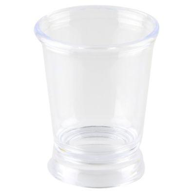 Portacepillo plástico transparente