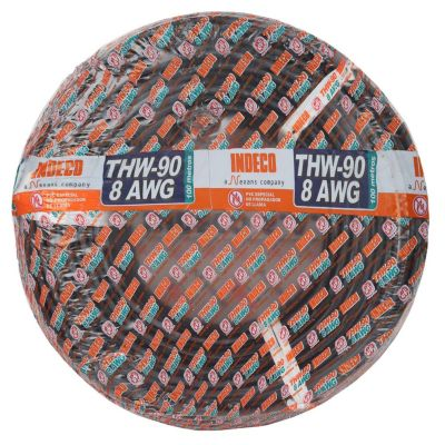 Cable THW 8 AWG Negro x 100 m