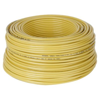 Cable THHN 10 AWG Amarillo x 100 m