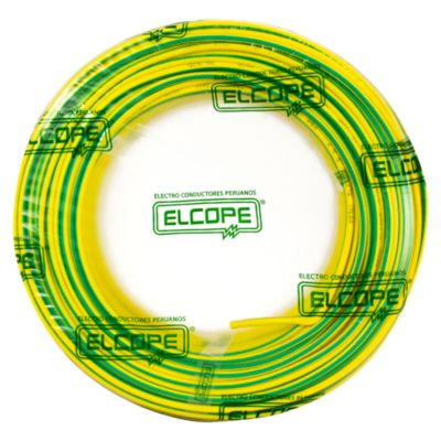 Cable a Tierra 12AWG 100m Amarillo