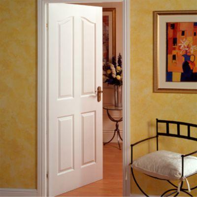 Puerta Interior Madrigal HDF 80 x 207 x 4 Blanca