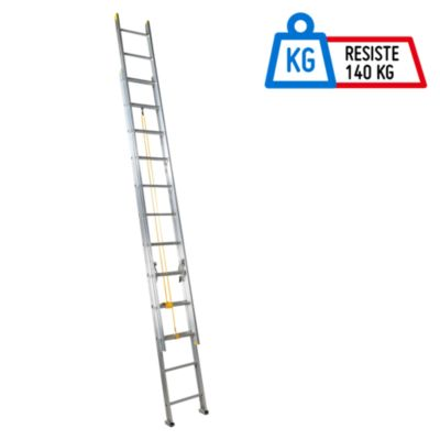 Escalera Telescópica Aluminio 24 Pasos